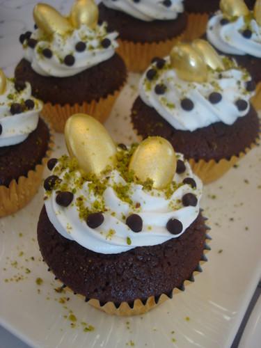 kremalı, çikolatalı muffin
