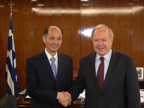 12/03/2009, Συνάντηση με τον Πρέσβη της Κίνας