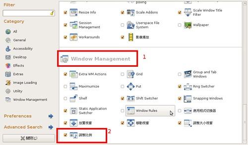 你拍攝的 Screenshot-CompizConfig Settings Manager。