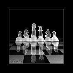 Chess :: Light Box (Salva Mira) Tags: blackandwhite bw blancoynegro glass reflections chess bn cristal escacs ajedrez reflejos blancinegre reflexes vidre salvamira