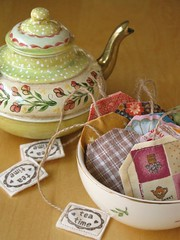 Lavender Teabags (PatchworkPottery) Tags: handmade sewing crafts lavender fabric teabag stamped sachet