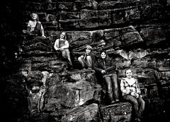 @ Bothwell Castle (Amber... Bamberboo) Tags: bw castle monochrome children heidi scotland daniel rosie colleen coco cameron 2009 bothwell february2009 bothwellcastles