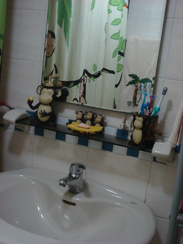 Our Tiny Tropical Bathroom :)