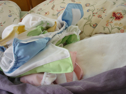 some of my cloth diapers