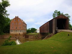 BURFORDVILLE, MISSOURI - BOLLINGER MILL* (gobucks2) Tags: statepark bridge mill dogs river lucy missouri coveredbridge historical whitewaterriver bollingermill burfordvillemissouri missouristatehistoricsite burfordvillecoveredbridge bollingerstatepark