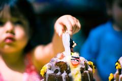 Birthday Cake (Adrian Parra) Tags: blackandwhite color girl cake kids canon 50mm spain europe hand canaryislands laspalmas