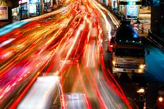 pulse of Bangkok (marin.tomic) Tags: city travel light urban motion car night shopping asian thailand lights nikon asia southeastasia chaos nightshot traffic bangkok malls explore thai lighttrails trafficjam siamsquare bkk congestion d40 lphectic