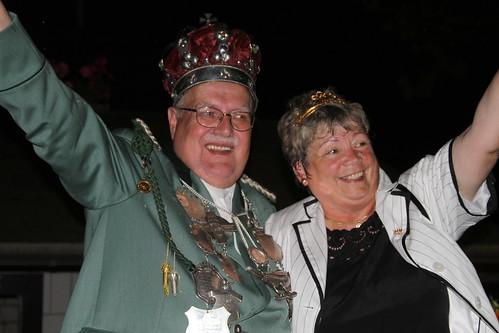 Schuetzenkoenigspaar Heinz und Rosi Roggendorf