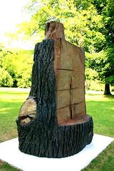 Blickachsen, Bad Homburg 2009 (Spiegelneuronen) Tags: modernekunst ausstellung badhomburg kurpark skulpturen installationen dietrichklinge blickachsen