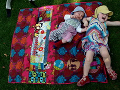 quilt for myself (joontoons) Tags: quilt handmade blanket patchwork gardenparty michaelmiller annamariahorner joontoons picknickblanket alexanderhengry