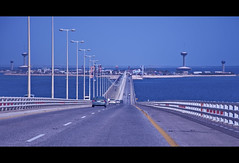 causeway island (gboy108(out for a while)) Tags: bridge blue urban bahrain nikon structures saudiarabia ksa d90 nikond90