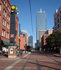 development around Dallas light rail tracks (by: Justin Cozart, creative commons license)
