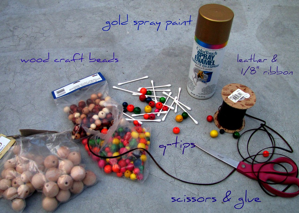 DIY gold baubles ...what you'll need
