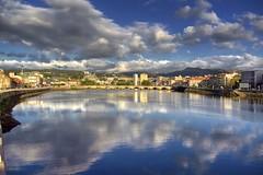 El Lerez. (benitojuncal) Tags: españa rio clouds river spain ponte galicia nubes pontevedra ria reflejos rias burgo tirantes baixas puento lerez