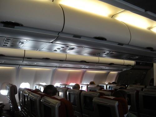 virgin atlantic a340 economy class cabin