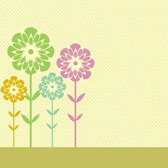 Meadow card (DryIcons) Tags: flowers modern design colorful meadow free retro card wishes vectors greeting