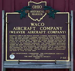 Ohio Historical Marker for Waco Aircraft Company