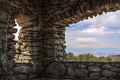 Stone Window in HDR (timaz (TimClarkeHDR.com)) Tags: arizona mountain phoenix stone canon south az lookout hut hdr 50d qtpfsgui