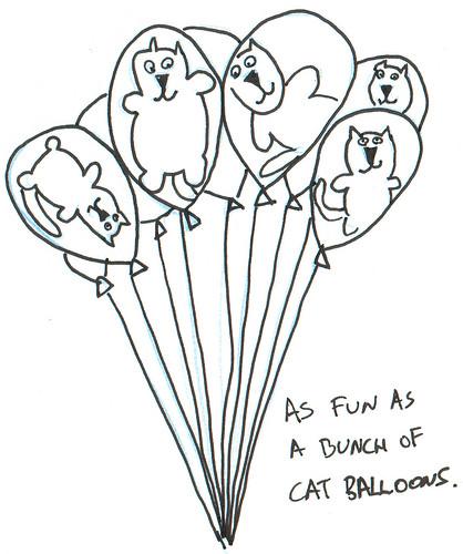 366 Cartoons - 191 - Cat Balloons
