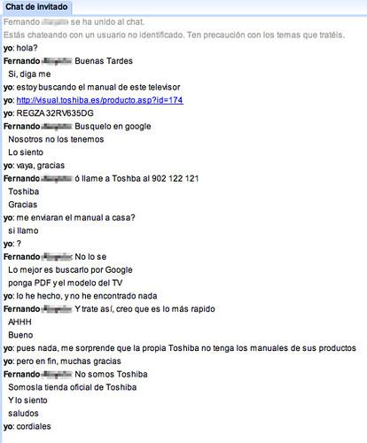 Chat con el responsable de producto de Toshiba
