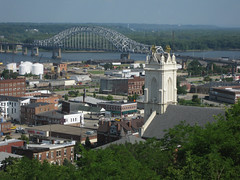 Julien Dubuque Bridge with Dubuque Downtown