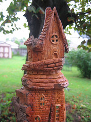 Room with a View  2 (RiverOtterWidgetStudios) Tags: new wood house home nature carved gnome log carving fairy gift bark cottonwood etsy decor faerie