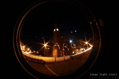 day 31 of 365 (iain-paton) Tags: church scotland 365 ayrshire largs lighttrail traffictrail iainpaton wcfu kylephotography nighttimelargs