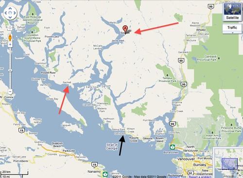 Putting Sechelt on Google Maps