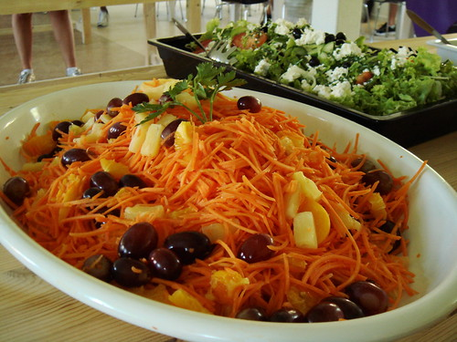 Day 4 Lunch: Carrot Salad & Greek Salad