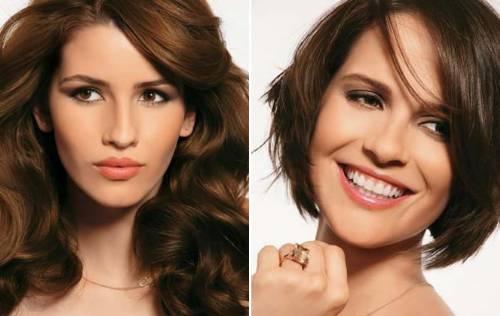 modelos de cabelos tons chocolate