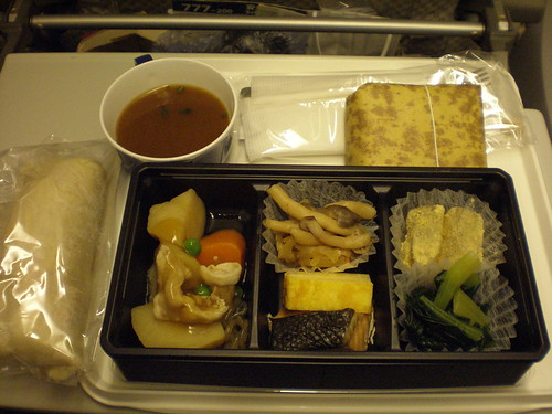 Meal at JAL (Haneda to Paris CDG)