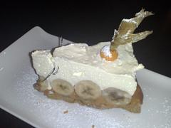 Banoffee pie at A Room In Leith restaurant, Edinburgh