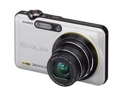 White open Casio EX-FC100 Digital Camera