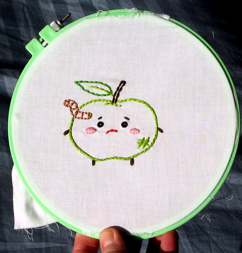 sad apple in the hoop