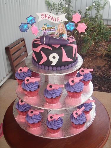 Mossys masterpiece Shanias 9th birthday cake cupcakes in
