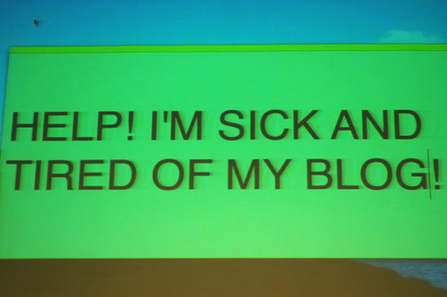 Sick of my blog 1