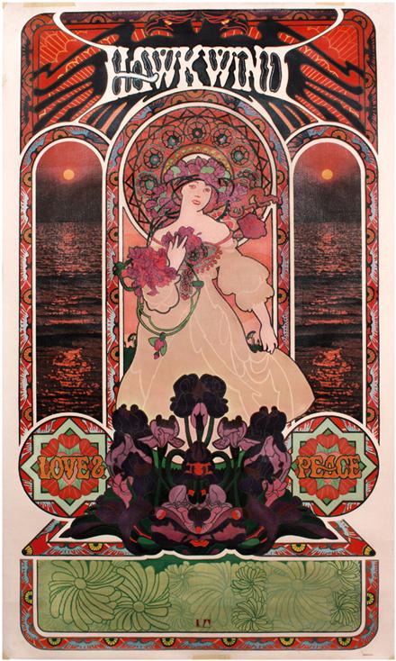 Hawkwind Love & Peace poster (c) N. Turner.
