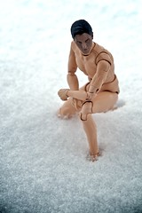 In Snow A Bare Body 1/6 Scale Figure Do Not Belong (Randy Santa-Ana) Tags: snow toys neoguy nikon85mmf18d nikond300 16scalefigure dolfieplus