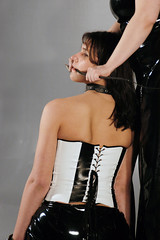kiss it, slave! (rasmus-art) Tags: art 2004 girl beauty distress devot slave gagged submissive restrained obedient cuffed sklavin