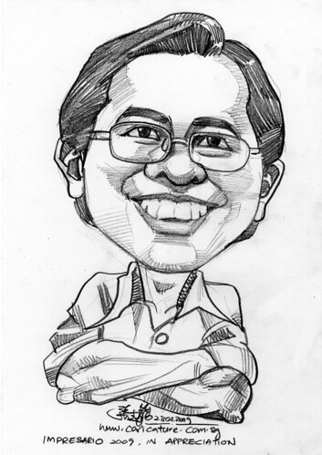 Caricature of Michael Tong