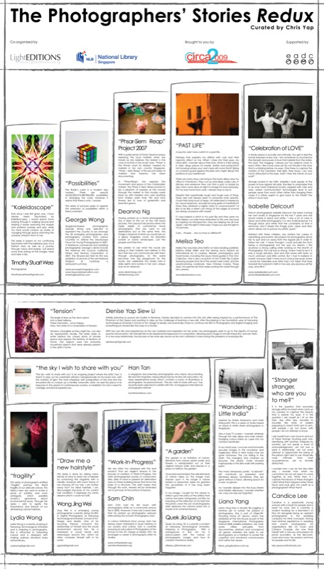 The Photographers' Stories Redux - Panel Back