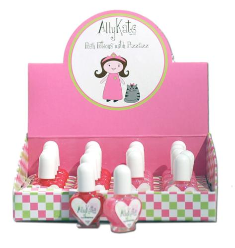 Polishes are non-toxic and come in Fairy Pink and Rose colors.