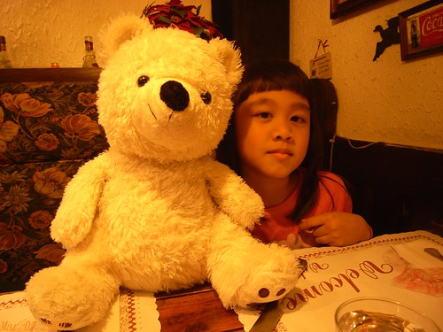 你拍攝的 娃娃與北極熊。