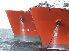 Scapa Flow LPG Ship to Ship (breeksy2002) Tags: sea water orkney ship lpg scapaflow shiptoship