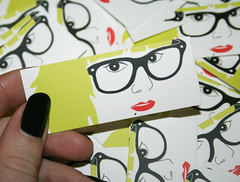 Moo cards (ingridesign) Tags: red cute ingrid me girl yellow promotion cards design graphic small mini moo business businesscards card vector selfpromotion moocards ingridesign