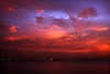 The Clouds were angry (anthony@sg) Tags: sunset red sea sky color nature clouds canon supershot 40d pfogold