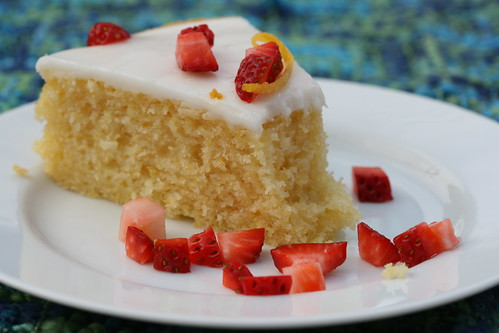Lemon Cornmeal Cake with Meyer Lemon Glaze (Bon Appetite)