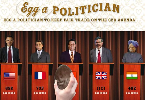 Throw a virtual chocolate egg at politicians — and egg them on to keep fair trade on the G20 agenda.