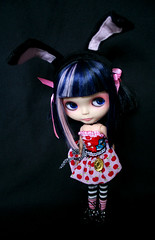 Usagi (jenink ... it's all a bit much) Tags: pink bunny doll ooak blythe neo custom takara licca usagi blueblack ocb primadolly ashletina