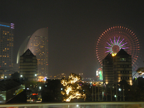 Puerto de Yokohama nocturno